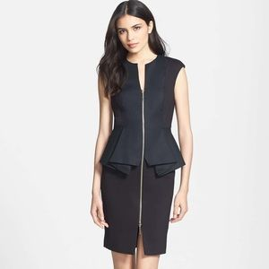 Ted Baker Jamthun  peplum stealth dress 0